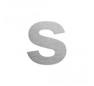 """Lettre """"s"""" minuscule en alu découpé, 5 coloris 2 hauteurs"""