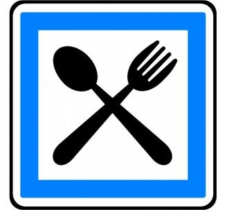 """Kit ou panneau type routier """"Restaurant ouvert 7 jours sur 7"""" ref:CE17"""