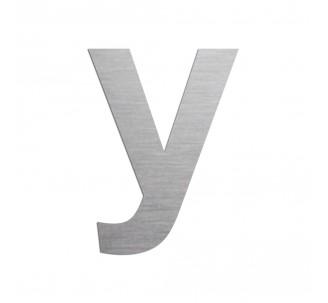 """Lettre """"y"""" minuscule en alu découpé, hauteur et couleur au choix"""