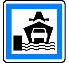 """Kit ou panneau type routier """"Embarcadère"""" ref:CE10"""