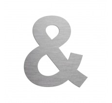 """Symbole """"&"""" en alu découpé, couleur au choix, et 2 hauteurs"""
