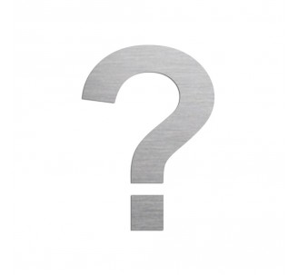 """Symbole """"?"""" en aluminium découpé, couleurs et dimensions"""