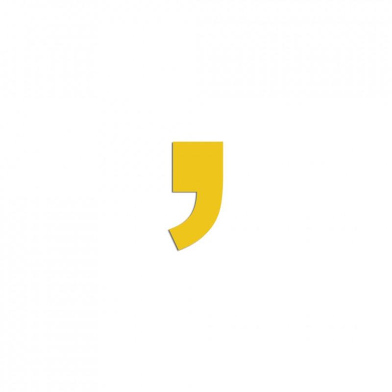 symbole apostrophe ou virgule en aluminium ou pvc d233coup233