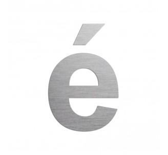 """Lettre """" é """" en aluminium découpé, couleurs et dimensions au choix"""
