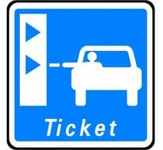 """Panneau seul ou kit type routier """"Borne de ticket de péage"""" ref:C62"""