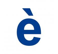 """Lettre """" è """" en aluminium ou PVC découpé"""