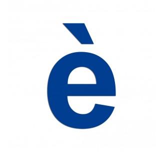 """Lettre """" è """" en aluminium découpé, dimensions et couleurs au choix"""