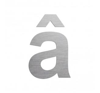 """Lettre """" â """" en aluminium découpé, couleurs et dimensions au choix"""