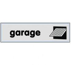 Plaque de porte plexi argent garage