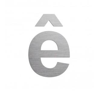 """Lettre """" ê """" en aluminium découpé, coloris et dimensions au choix"""