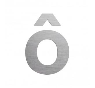 """Lettre """" ô """" en aluminium, coloris et dimensions au choix"""