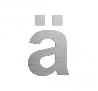 """Lettre """" ä """" en aluminium, 5 coloris et 2 hauteurs"""