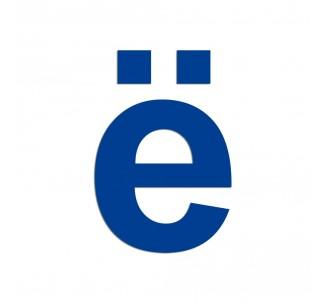 """Lettre """" ë """" en aluminium brossé découpé, couleurs et dimensions au choix"""