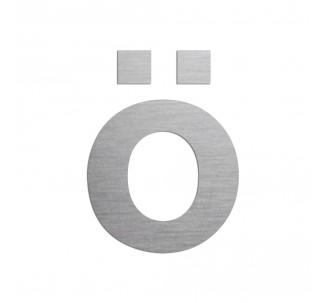 """Lettre """" ö """" en aluminium découpé, couleurs et dimensions au choix"""
