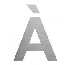 """Lettre """" À """" en alu ou PVC découpée, dimensions au choix"""