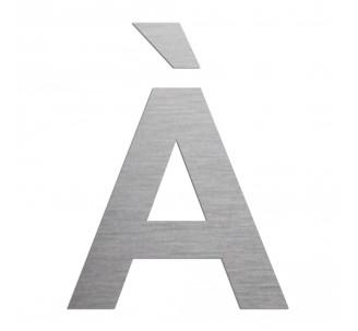 """Lettre """" À """" en aluminium découpé, coloris et dimensions au choix"""