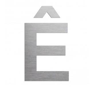 """Lettre """" Ê """" en alu ou PVC découpée, dimensions au choix"""