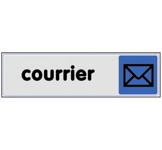 Plaque de porte plexi couleur courrier