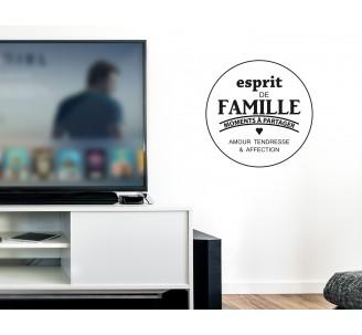sticker esprit de famille. Black Bedroom Furniture Sets. Home Design Ideas