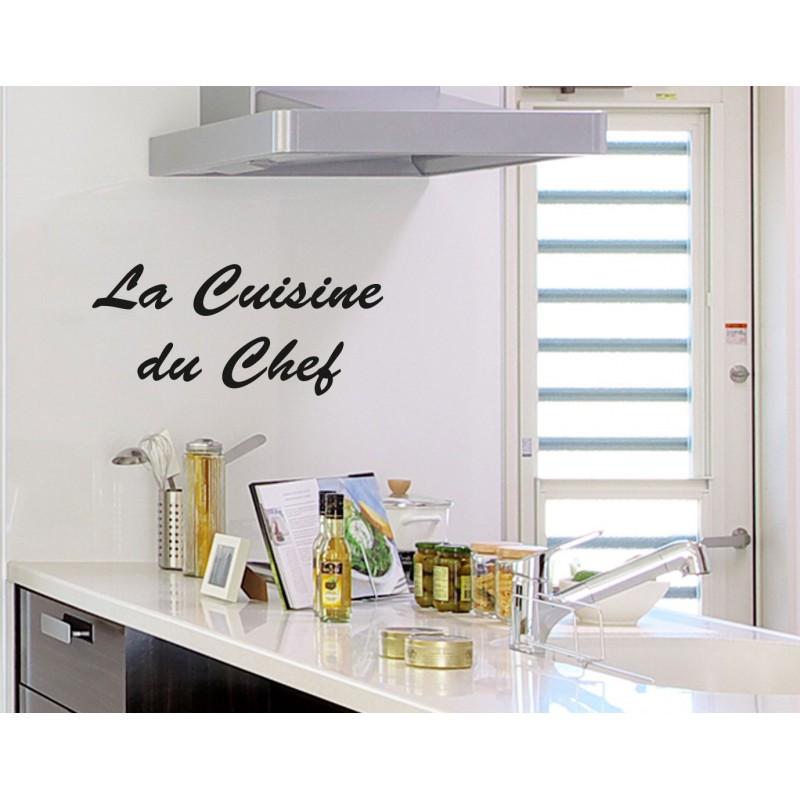 sticker la cuisine du chef. Black Bedroom Furniture Sets. Home Design Ideas