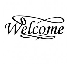 "Sticker ""Welcome"""