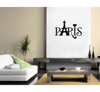 "Sticker ""Paris , Tour Eiffel, Coeur"""