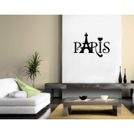 "Sticker ""Paris , Tour Eiffel, Coeur"""