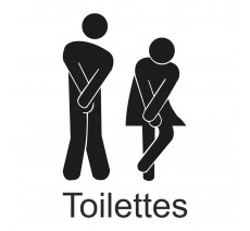 "Sticker ""Toilettes"""