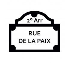 "Sticker ""Rue de la paix"""