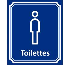 """Plaque porte Côté rue """" Toilettes Hommes"""" en aluminium"""