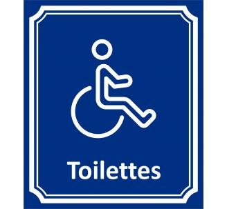 plaque porte toilettes handicap en aluminium type c t rue. Black Bedroom Furniture Sets. Home Design Ideas