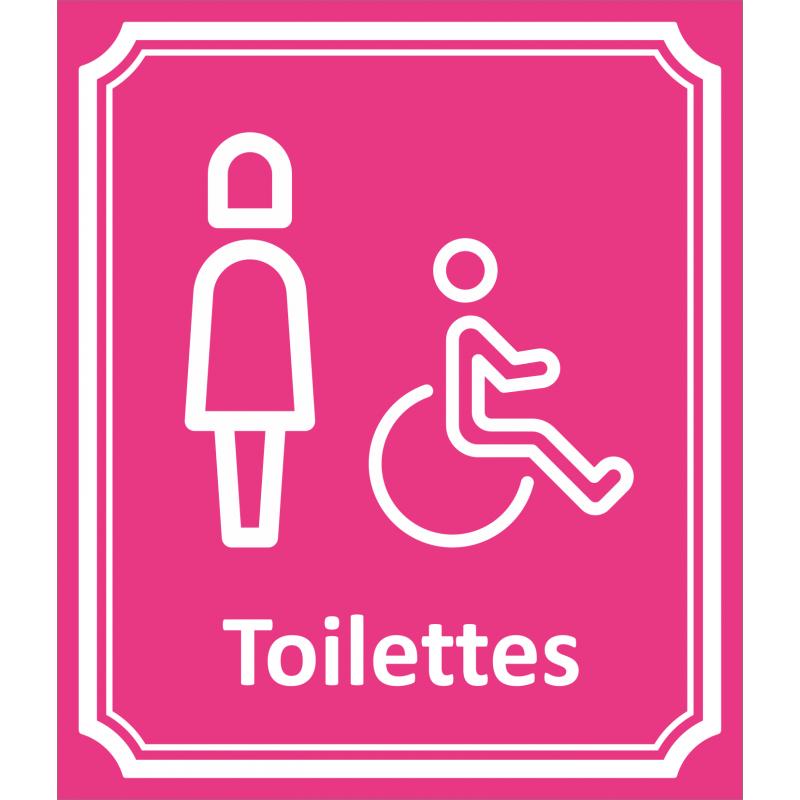 plaque toilettes femme handicap en alu type c t rue. Black Bedroom Furniture Sets. Home Design Ideas