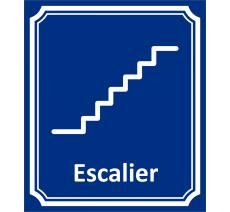 "Plaque porte Côté rue "" Escalier"" en aluminium"