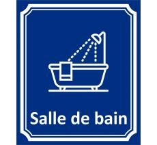 "Plaque porte Côté rue "" Salle de bain"" en aluminium"