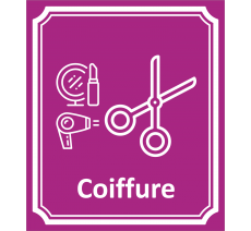 "Plaque porte Côté rue "" Coiffure"" en aluminium"