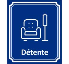 """Plaque porte Côté rue """" Détente"""" en aluminium"""