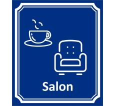"""Plaque porte Côté rue """"Salon"""" en aluminium"""