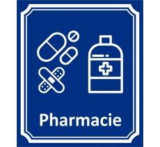 "Plaque porte Côté rue ""Pharmacie"" en aluminium"