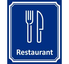 "Plaque porte Côté rue ""Restaurant"" en aluminium"
