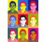 "Impression style ""Andy Warhol"" dim:180x130mm"