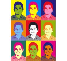 """Impression style """"Andy Warhol"""" dim:180x130mm"""