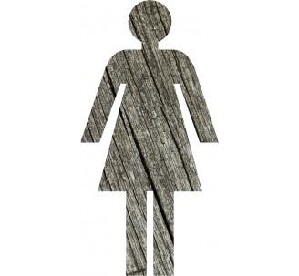 Silhouette à effet texture bois Femme