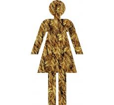 Silhouette à effet texture Corde Femme