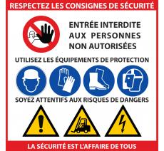 Panneau PVC dimensions: 480x480mm Respectez les consignes de sécurité