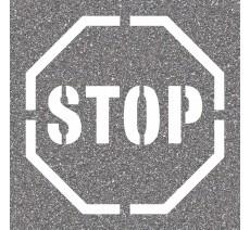 "Pochoir en bois ""STOP"""