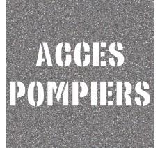 """Pochoir en bois """"ACCES POMPIERS"""""""