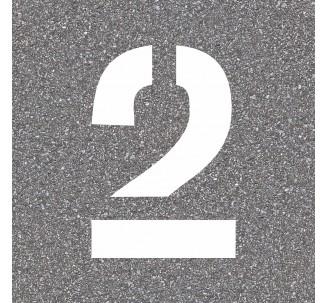 """Pochoir en bois du chiffre """"2"""""""