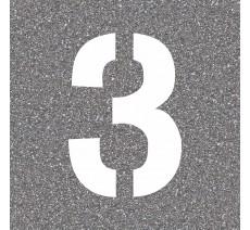 """Pochoir en bois du chiffre """"3"""""""