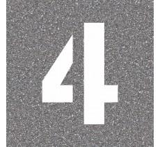 """Pochoir en bois du chiffre """"4"""""""