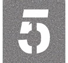 """Pochoir en bois du chiffre """"5"""""""